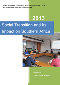 SOCIAL TRANSITION AND ITS IMPACT ON SOUTHERN AFRICA  1
